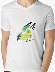 watercolor drawing bird, robin at white background T-Shirt