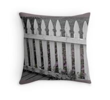 Pickets in tint Throw Pillow