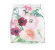 beautiful illustration of Hand Painted flower Wild  Mini Skirt