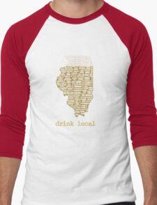 Drink Local - Illinois Beer Shirt Men's Baseball ¾ T-Shirt