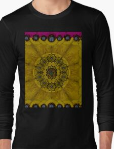 Yin and Yang in pattern and landscape style Long Sleeve T-Shirt