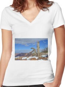 Grand Canyon 12 Women's Fitted V-Neck T-Shirt