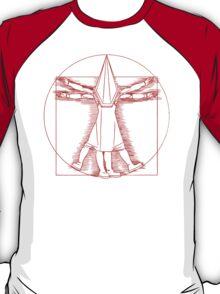 Vitruvian Pyramid Head (Red) T-Shirt