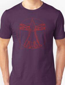 Vitruvian Pyramid Head (Red) Unisex T-Shirt