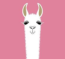 LLAMA PORTRAIT #5 by Jean Gregory  Evans