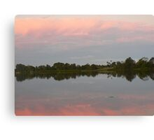 Reflections At Dusk, Manning River Canvas Print