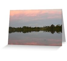 Reflections At Dusk, Manning River Greeting Card