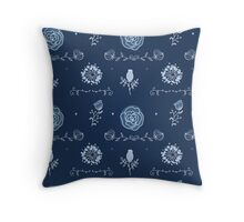 Elegance Seamless pattern with flowers Throw Pillow