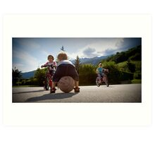 Kids Playing Art Print