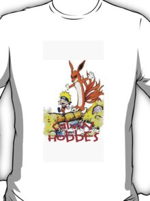 calvin and hobbes naruto funny T-Shirt