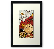 Charlie Brown Snoopy Framed Print