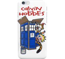 Calvin And Hobbes Tatdis dr Who iPhone Case/Skin