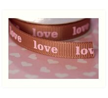 Ribbon of love ... Art Print