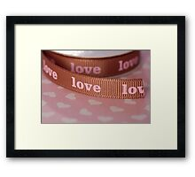 Ribbon of love ... Framed Print