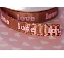 Ribbon of love ... Photographic Print