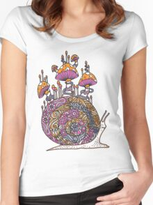 Mushroom Snail Women's Fitted Scoop T-Shirt