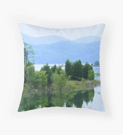 Mountain View from Douglas Lake Throw Pillow
