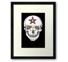 Trippy Skull Framed Print