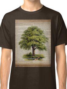 hippie hipster fashion botanical art vintage oak tree Classic T-Shirt