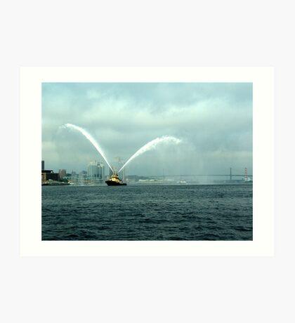 Fireboat-Halifax Art Print