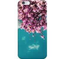 Pink Flowers at Teal Hours iPhone Case/Skin