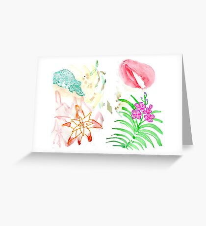 Nature and flower Greeting Card