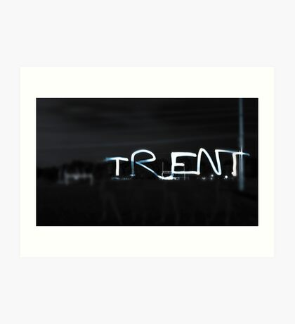 Trent (Written in Light) Art Print