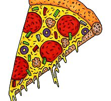 Pizza Slice by Octavio Velazquez