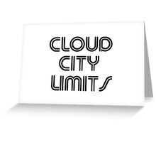 CLOUD CITY LIMITS Greeting Card