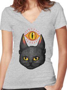 Saurpuss Women's Fitted V-Neck T-Shirt