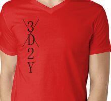message Mens V-Neck T-Shirt