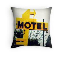 No Tell Motel Throw Pillow