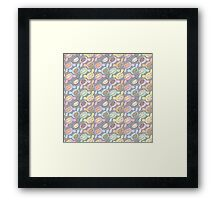 Kawaii kids.  Framed Print