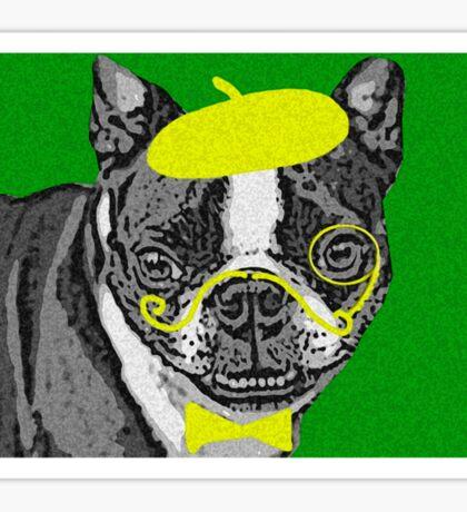 { boston terrier - buddha series: monacle dog } Sticker