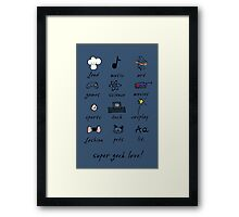 geek love! blue Framed Print