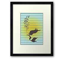Black Mermaid Framed Print