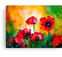 The Rhythm Of Life...Poppies Canvas Print