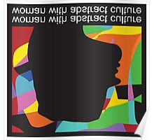 Woman With Abstract Culture  Poster
