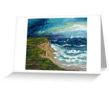 Cliff Line Greeting Card