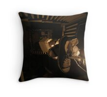 If you throw your shoe down a spiral staircase and no one is around will it make a sound? Throw Pillow