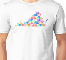 Virginia Colorful Triangles Hipster Geometric  Unisex T-Shirt