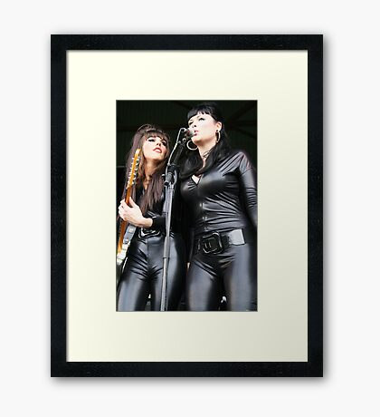 Meowwww, Rock & Roll Dolls Framed Print