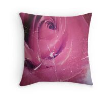 cool vintage valentine's grunge red rose Throw Pillow
