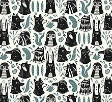 Plants & Animals Pattern by Mangeshig