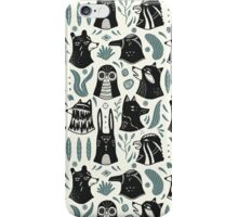 Plants & Animals Pattern iPhone Case/Skin