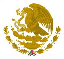 Mexican American Multinational Patriot Flag Series 1.0 Sticker
