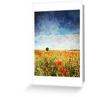 Poppy Fields - Texture Greeting Card
