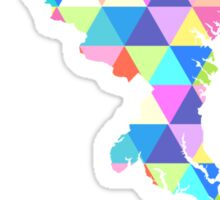 Maryland Colorful Hipster Geometric Triangles Sticker