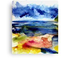 Malibu Abstraction Canvas Print