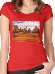 Monument Valley Women's Fitted Scoop T-Shirt